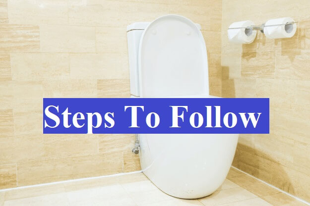 steps to be followed for toilet leaking from base